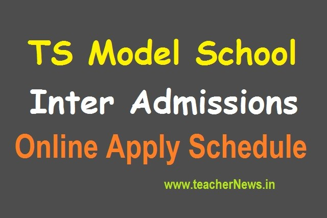Telangana Model Schools Inter 1st year Admissions 2020 Online Application form last date