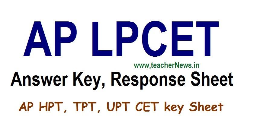 AP LPCET Answer key 2020 AP Laguage Pandit Preliminary Inicial Key final key Download