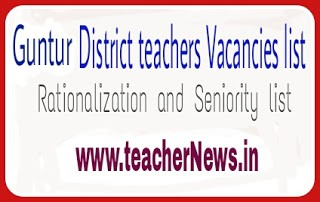 Guntur District SA LP HM PET SGT Transfers Vacancies list, final Seniority list 2020
