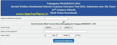 TGCET 5th Hall tickets 2021 - TGCET Entrance Test Hall ticket at tgcet.cgg.gov.in