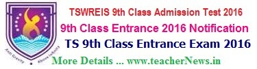 TSWREIS 9th Class Admission Test 2017 Hall Tickets, Results Download swreishms.cgg.gov.in