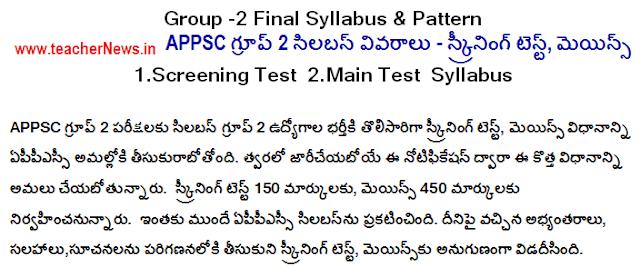 AP Group 2 Syllabus