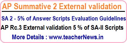 AP SA 3 External Evaluation 5% of Answers Scripts
