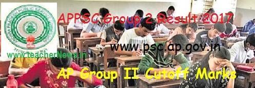 APPSC Group 2 Result 2017 psc.ap.gov.in AP Group II Cutoff Marks District Merit list