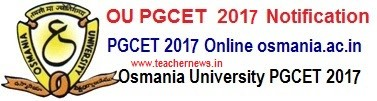 OUCET 2018 Online Application Form for MA, MSc, M.Com PG Admissions
