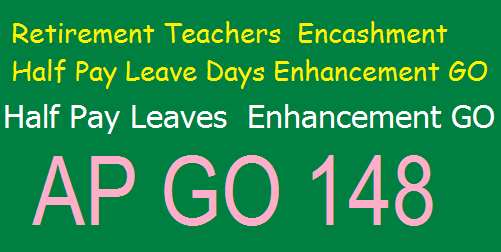 Encashment of Leave on Half Pay at the time of retirement of teachers working in the Municipal, Panchayat Raj and Aided schools,GO.MS.148