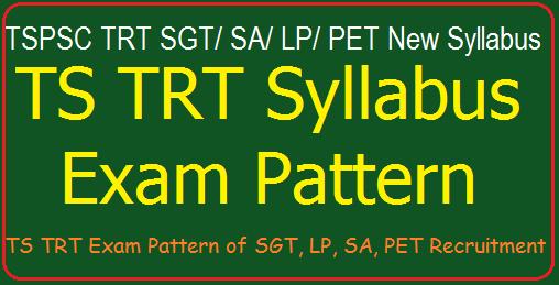 TS DSC/ TRT 2017 Exam Pattern, Syllabus of SGT/ SA/ Pandits/ PET Recruitment
