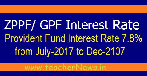 AP ZPPF/ GPF Interest Rate 7.8% for July 2017 to Dec 2017 GO 2087
