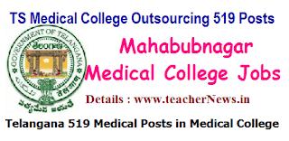 Mahabubnagar Medical College Contact/ Outsourcing 519 Recruitment Notification
