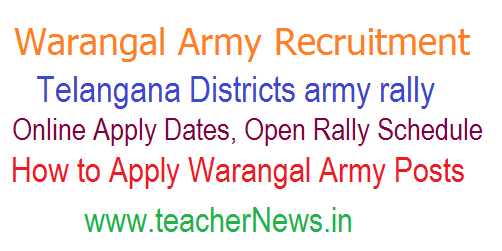Warangal Army Rally Recruitment 2021-22 Online Registration | Telangana Open Army Rally Schedule