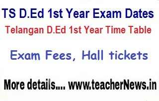 TS D.Ed 1st Year Time Table 2018 - Download Telangana D.El.Ed Exam Dates/ Schedule 2017-19 batch