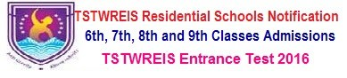 TSTWREIS Gurukulam Backlog 7th Class Vacancies Admission 2018 Online Application