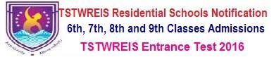 TSTWREIS Gurukulam 6th Class Backlog Vacancies Entrance Test 2018 Online Application