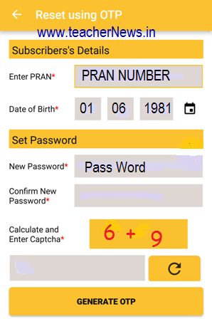 How to Reset Update CPS PRAN Details in NPS NSDL e- Governance App