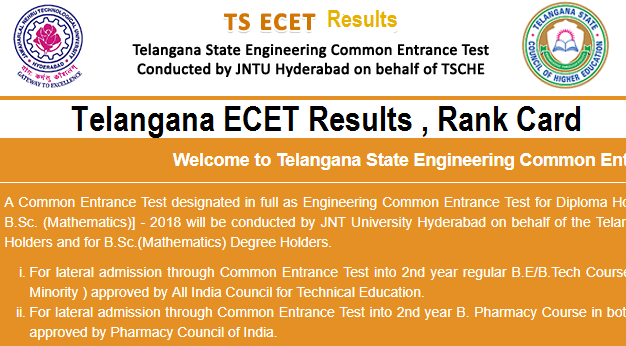 TS ECET Results 2018 –Manabadi TSECET Result, Rank Card, Counselling Dates