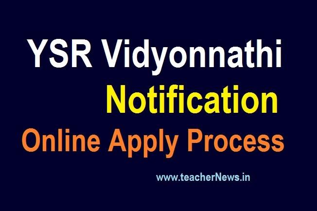 YSR Vidyonnathi Notification 2020 for Civil Free Coaching Online Apply Merit list/ Selection list, Certificate Verification Centers/ Venue 2020 Counselling Schedule