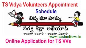 TS Vidya Volunteers Online Apply Last date at http://cdse.telangana.gov.in/ SGT, SA, LP Vacancies 2018