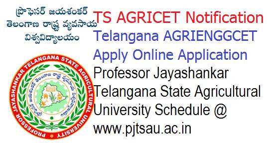 Telangana AGRICET/ AGRIENGGCET Notification 2018 - Online Apply Schedule @ www.pjtsau.ac.in