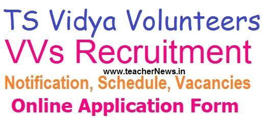 TS Vidya Volunteers 16781 Vacancies Recruitment 2018 Application Form