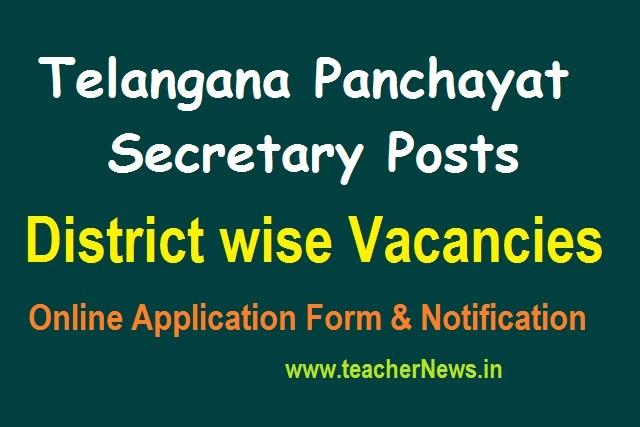 Telangana Panchayat Secretary Posts 2020 District wise Vacancies