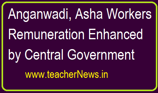 Anganwadi Asha Workers Remuneration Enhanced by Central Government