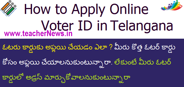 How to Apply Online Voter ID in Telangana | Model Application Form 6 at ceotelangana.nic.in