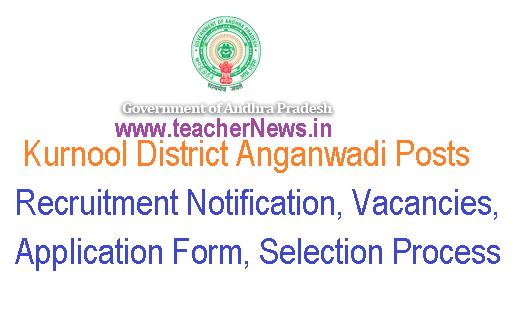 Kurnool District Anganwadi Posts 2018-19 Notification Vacancies Application Form