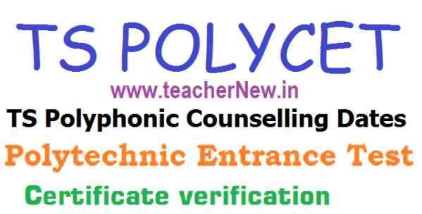 TS POLYCET Counselling Dates Certificate Verification Schedule 2019 Admission Fee Details