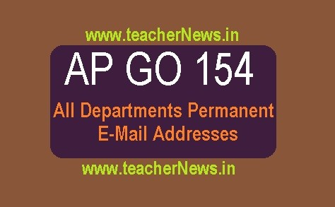 AP All Departments Permanent E-Mail Addresses links in AP GO 154