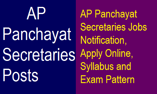 AP Panchayat Secretaries District Wise 1051 Posts Notification 2018 | Apply Now