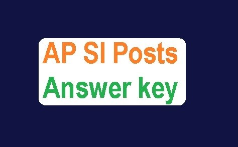 AP SI Prelims Answer Key 2018 – Download Set wise for Paper 1 & 2