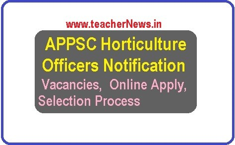 APPSC Horticulture Officers Notification 2018 - 39 Vacancies Online Apply Now