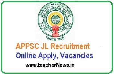 APPSC JL Recruitment 2019 – Online Apply 237 Junior Lecturer Vacancies