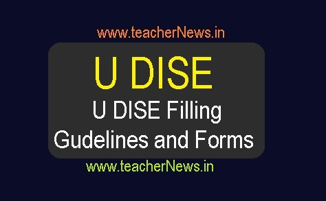 How to fill U DISE Forms 2018-19 Guidelines for Unified District Information System Education Forms