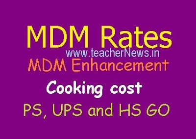 AP MDM Enhanced Rates from 1st April, 2018 - MDM Rates increased G.O.No.20