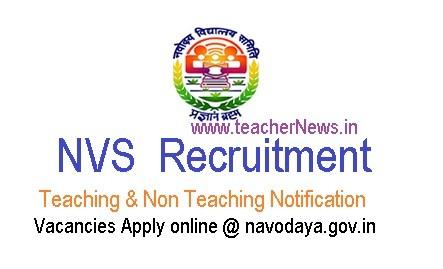 NVS Teachers Recruitment 2019 - 251 Vacancies Apply online @ navodaya.gov.in