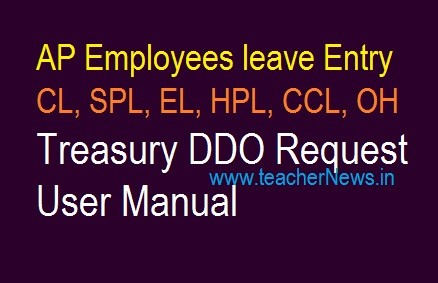 AP Employees leave Entry CL | SPL | EL | HPL | CCL | OH - Treasury DDO Request