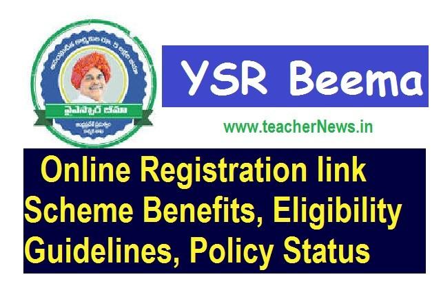 YSR Beema Online Registration, Scheme Benefits, Eligibility Guidelines, Policy Status