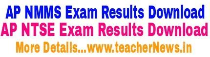 AP NMMS Results 2019   AP  NTSE Results Nov 2018 at www.bse.ap.gov.in