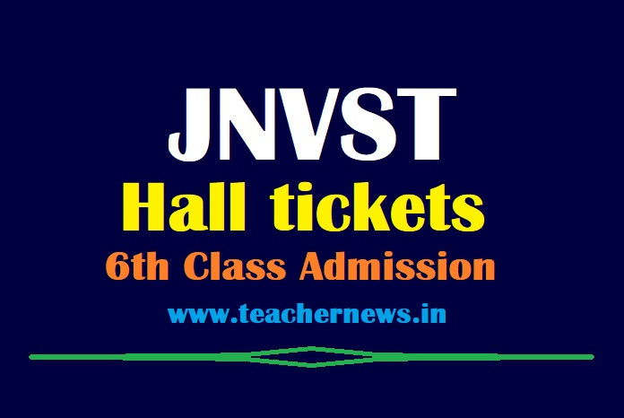 JNVST Hall Tickets 2021 (Released)   Navodaya 6th Class Entrance Exam Admit Cards