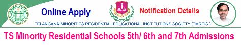 TMREIS 6th Admission 2019   Online Apply for Minority Residential Schools in Telangana