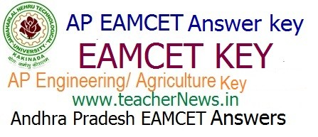 AP EAMCET Response Sheet Preliminary Answer Key 2019 | Download AP Engineering/ Agriculture Official Preliminary Key