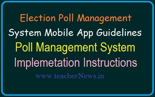 Election Poll Management System Mobile App Guidelines    Implementing Poll Management System
