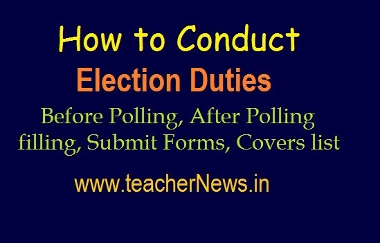 How to Conduct Election Duties 2019 | After Polling filling & Submit Forms Covers list Download