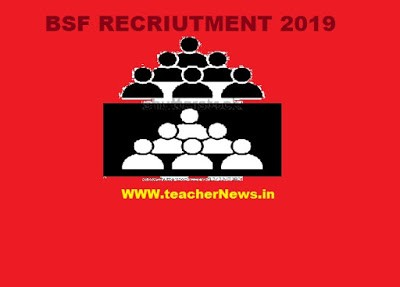 BSF RECRUITMENT 2019 | APPLY ONLINE FOR 1072 CONSTABLE POST