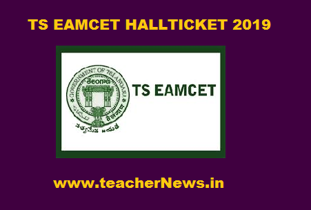 TS EAMCET Hall Ticket 2019   download