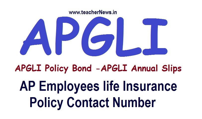 APGLI Policy Bond Annual Slips Status | AP Employees life Insurance Policy Contact Number