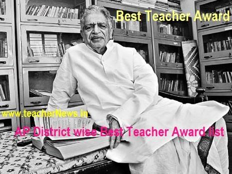 District Best Teacher Award list 2019