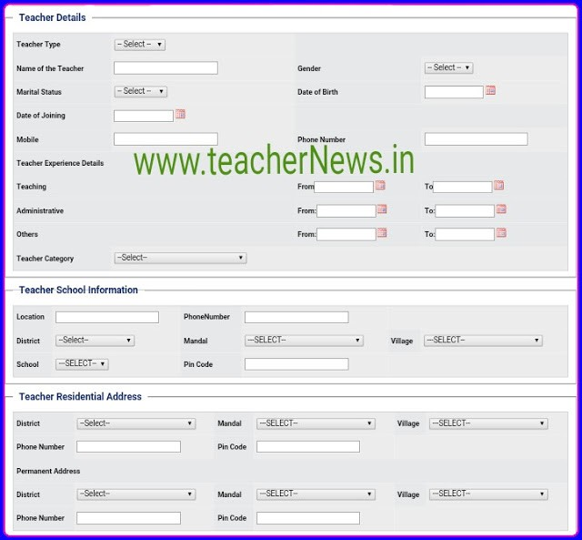 Telangana/ TS State Best Teacher Award 2019 Guidelines, Application Form Submit Process