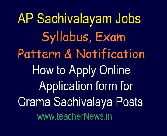 Grama Sachivalaya Jobs Syllabus, Exam Pattern 2019 | Selection Process in Telugu